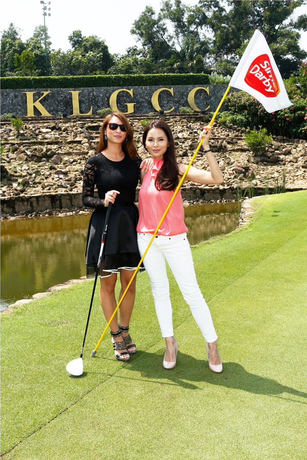 (L-R) Patricia Knudsen and Daphne Iking support this year's Sime Darby LPGA Malaysia at Kuala Lumpur Golf & Country Club