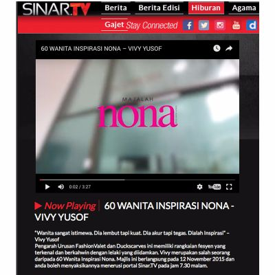 Nona with Sinar TV - January